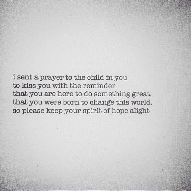a prayer to a child